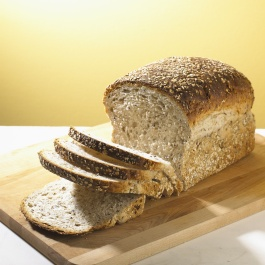 Photo of a loaf of wheat bread