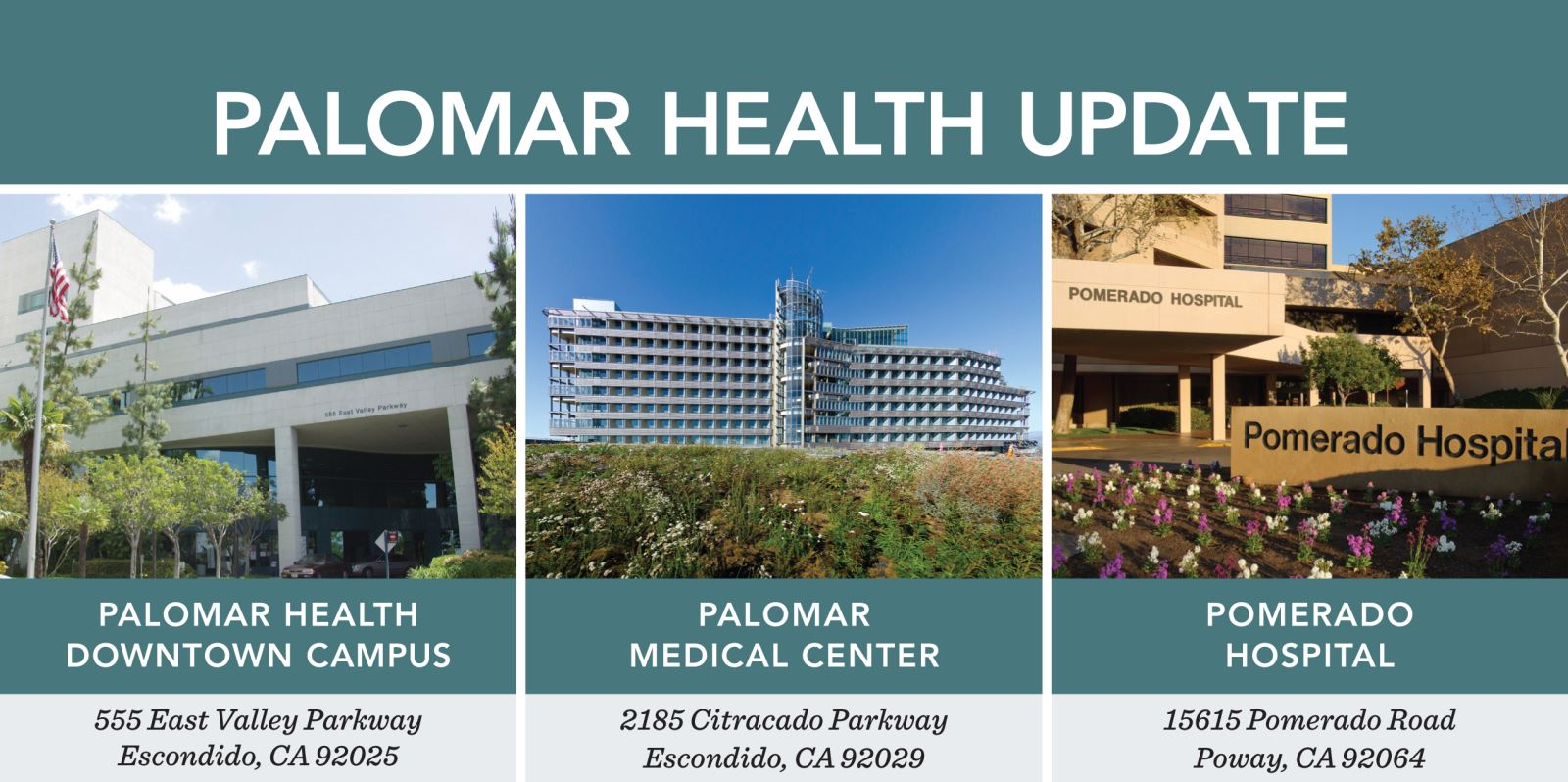 Three Facilities Fast Facts Palomar Health Sango County Ca