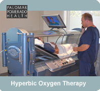 Hyperbaric Oxygen Therapy is used to heal wounds at Palomar Wound Care Centers