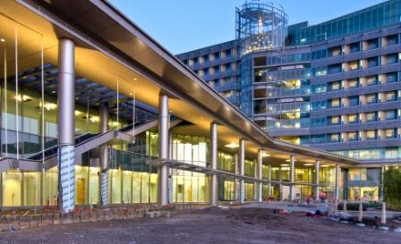 Main entrance at the new hospital-January 2012.