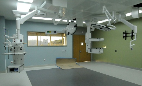Inside one of the new operating rooms-October 2011 Photo courtesy of David Cox, DPR Construction