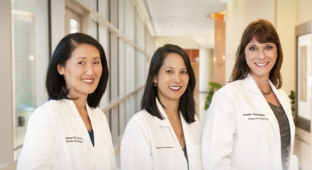Team of female physicians